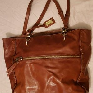 Badgley Mischka Brown Leather Bag Authentic